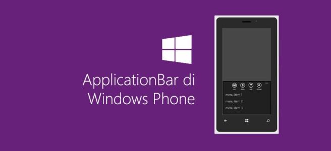 ApplicationBar di Windows Phone