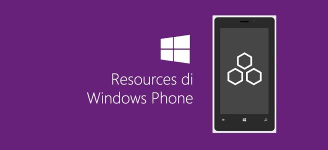 Resurces di Windows Phone