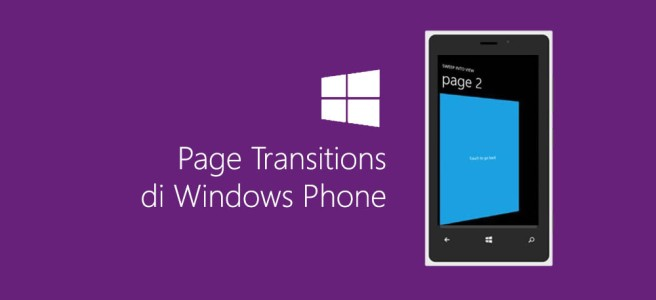 Page Transitions di Windows Phone