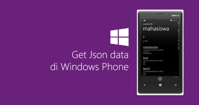 Get Json data di Windows Phone