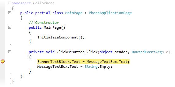 Melangkah melalui kode di debugger