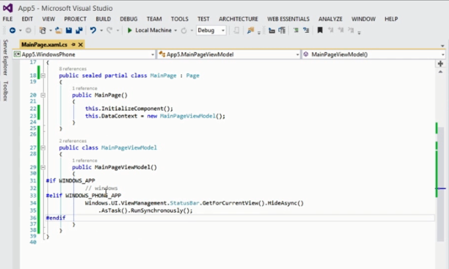 Code Spesific Windows Phone