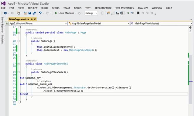 Code Spesific Windows Phone
