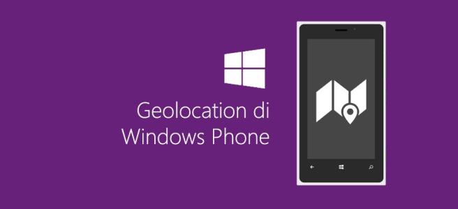Geolocation di Windows Phone