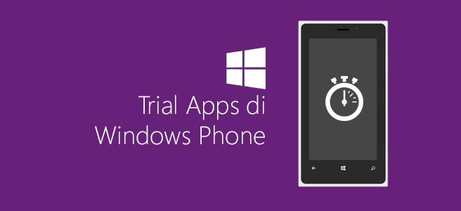 Trial Apps di Windows Phone