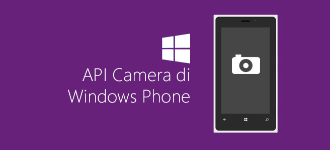 API Camera di Windows Phone