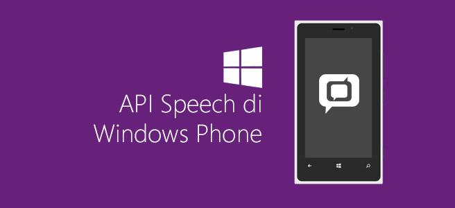 API Speech di Windows Phone