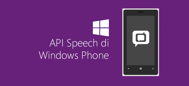 API Speech di Windows Phone