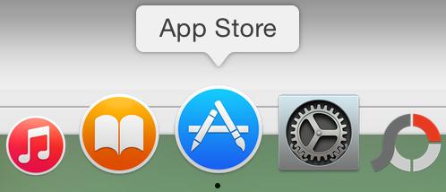 App Store in Dock