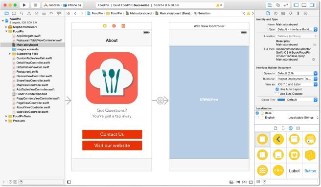 Design halaman untuk About dan web view