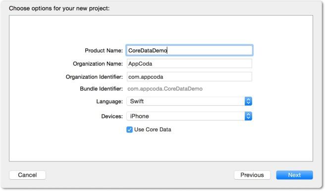 Enable Core Data