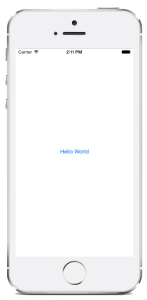 iOS Hello World