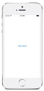 iOS Hello World