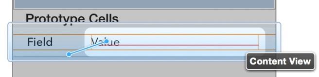 Menambahkan spacing contraints menggunakan control-drag