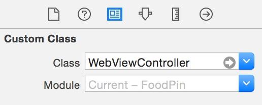 Mengatur custom class dari web view controller