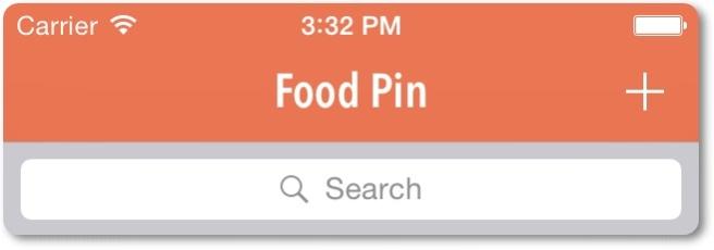 Search bar ditambahkan di header table view