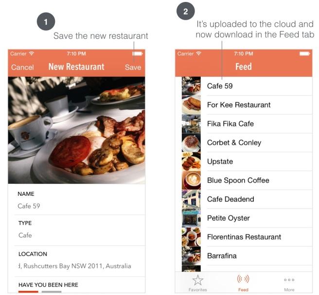 Restaurant baru yang telah di upload ke Cloud