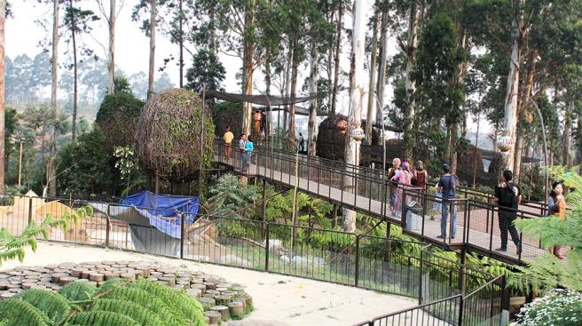 Sangkar Burung di Dusun Bambu