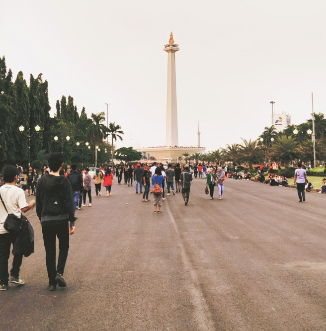 Monas in Evening